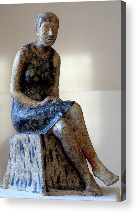 Sculpture Acrylic Print featuring the sculpture Nijole by Raimonda Jatkeviciute-Kasparaviciene