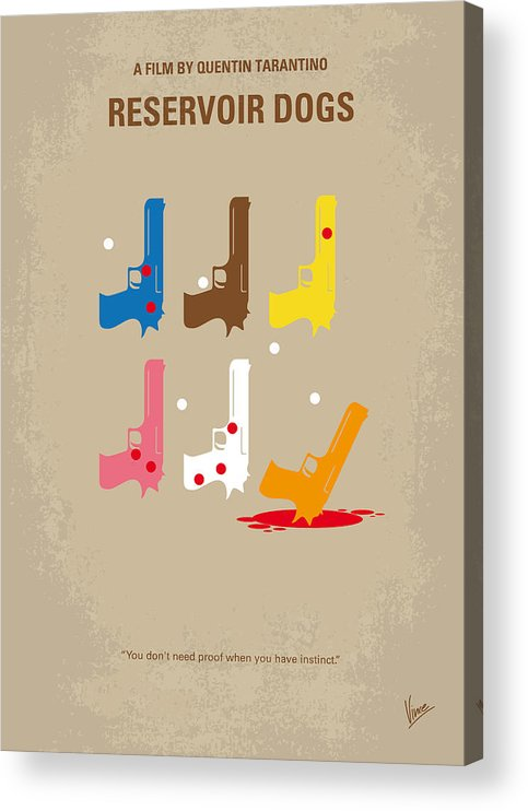 Reservoir Acrylic Print featuring the digital art No069 My Reservoir Dogs minimal movie poster by Chungkong Art