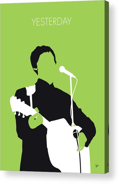 Paul Acrylic Print featuring the digital art No076 MY PAUL MCCARTNEY Minimal Music poster by Chungkong Art