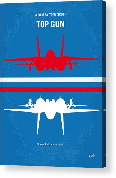 Top Acrylic Print featuring the digital art No128 My TOP GUN minimal movie poster by Chungkong Art