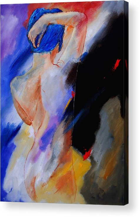 Nude Acrylic Print featuring the painting Nude 579020 by Pol Ledent