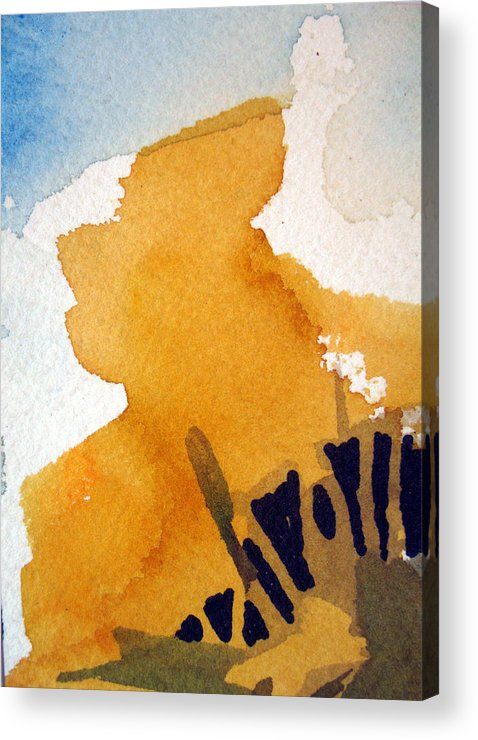 Aceo. Landscape Acrylic Print featuring the painting October Gold by Bill Meeker