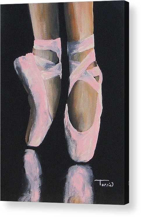 Ballet Acrylic Print featuring the painting On Point by Torrie Smiley