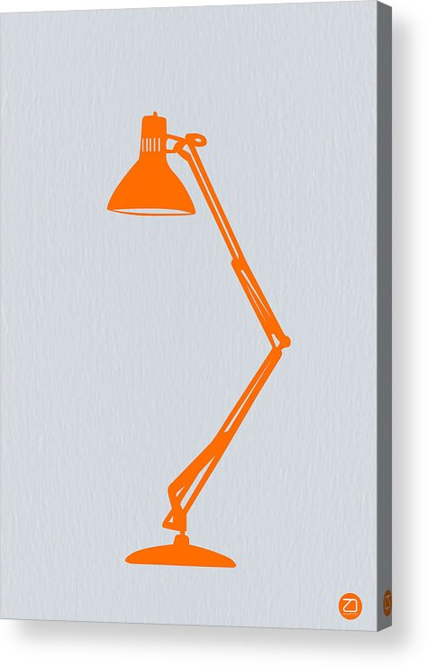 Lamp Acrylic Print featuring the photograph Orange Lamp by Naxart Studio