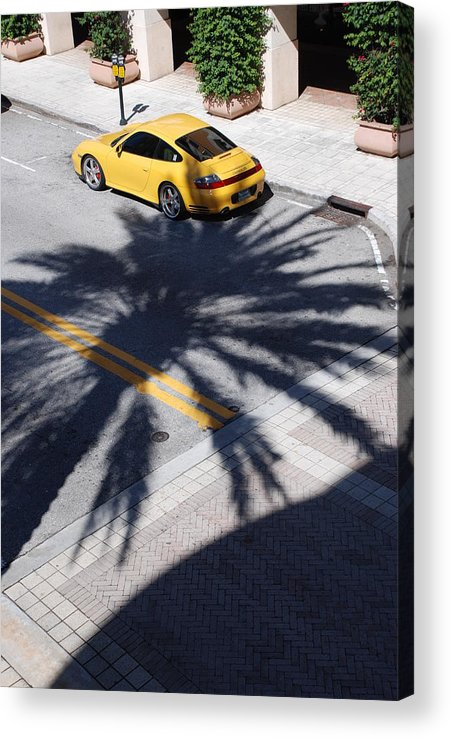 Porsche Acrylic Print featuring the photograph Palm Porsche by Rob Hans