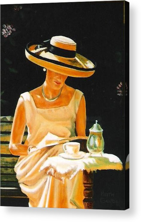 Tea Cup Acrylic Print featuring the painting Quiet time by Keith Gantos