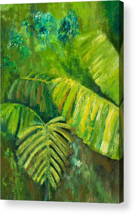 Rain Forest Acrylic Print featuring the painting Rain Forest by Carol P Kingsley