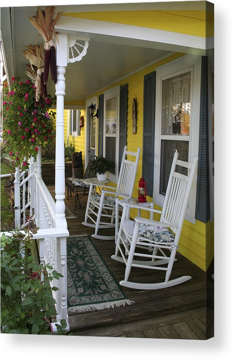Rocking Chair Acrylic Print featuring the photograph Rockers on the Porch by Margie Wildblood