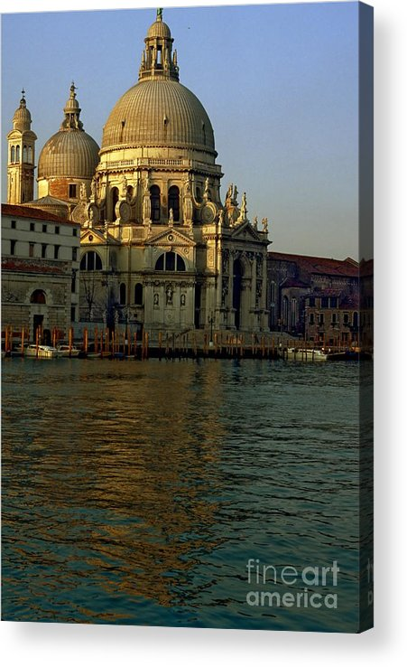 Venice Acrylic Print featuring the photograph Santa Maria Della Salute In Venice In Morning Light by Michael Henderson