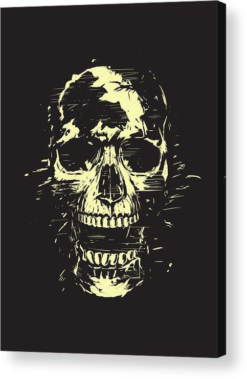 Skull Acrylic Print featuring the mixed media Scream by Balazs Solti