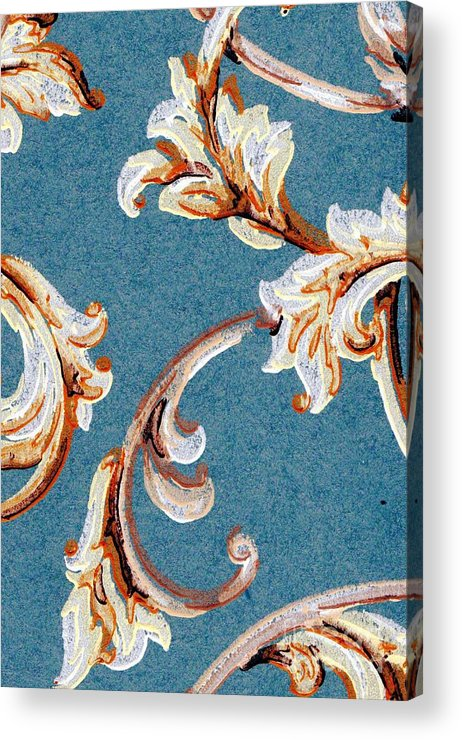 Scroll Acrylic Print featuring the painting Scrolled Whimsy by Writermore Arts