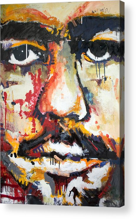 Abstract Acrylic Print featuring the painting Self Portrait by Dmitry Gubin