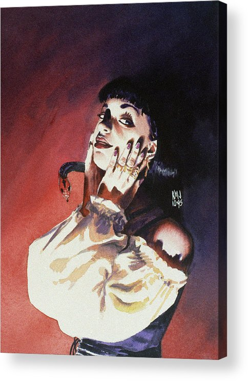 Women Acrylic Print featuring the painting Set by Ken Meyer jr