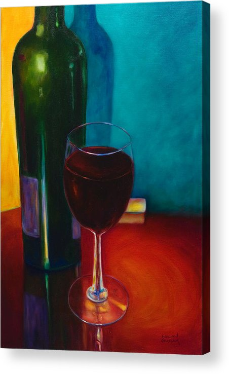 Wine Bottle Acrylic Print featuring the painting Shannon's Red by Shannon Grissom