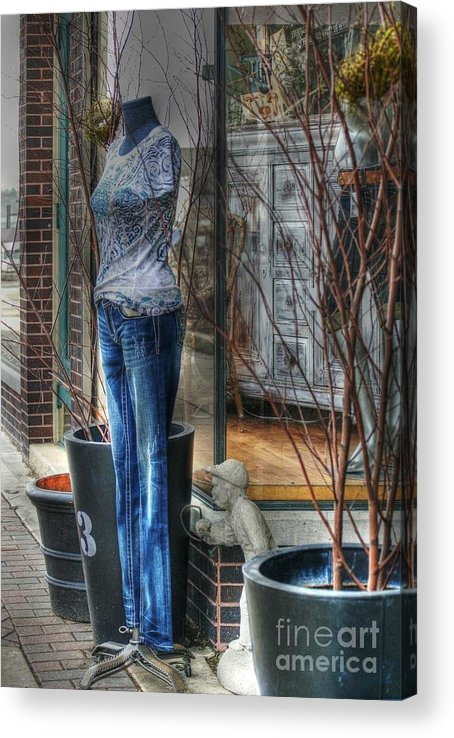 Mannequin Acrylic Print featuring the photograph Size Six by David Bearden