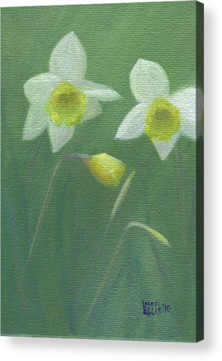 Flowers Acrylic Print featuring the painting Spring Morning by Laurel Ellis