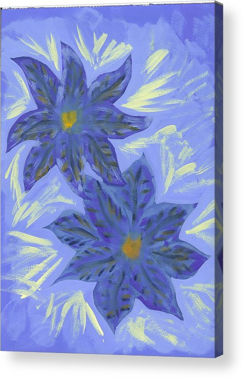 Flower Acrylic Print featuring the painting Stormy Monday by Laura Lillo