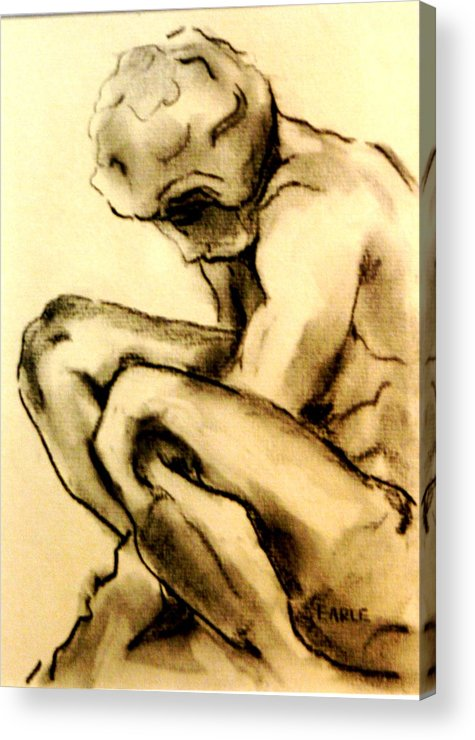 Adolescent Acrylic Print featuring the drawing The Adolescent by Dan Earle