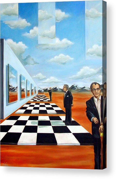Surreal Acrylic Print featuring the painting The Gallery by Valerie Vescovi