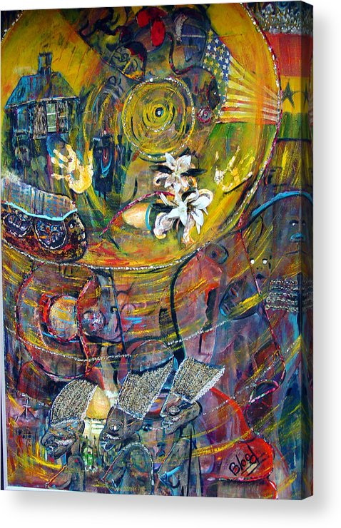 Figures Acrylic Print featuring the painting The Journey by Peggy Blood