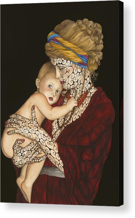 Figure Acrylic Print featuring the painting The Legacy by Tina Blondell