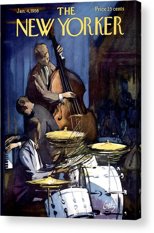 Concert Acrylic Print featuring the painting The New Yorker Cover - January 4th, 1958 by Arthur Getz
