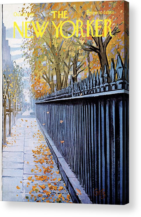 Season Acrylic Print featuring the painting New Yorker October 19, 1968 by Arthur Getz