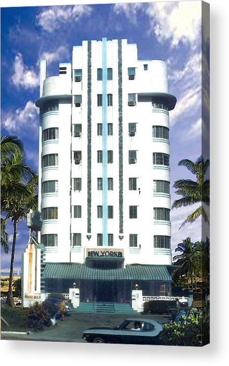 Miami Acrylic Print featuring the photograph The New Yorker by Steve Karol
