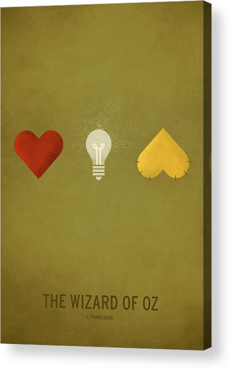 Stories Digital Art Acrylic Print featuring the digital art The Wizard of Oz by Christian Jackson