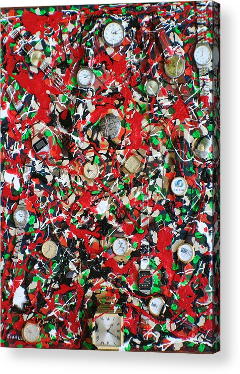 Acrylic Print featuring the painting Timepieces by Biagio Civale