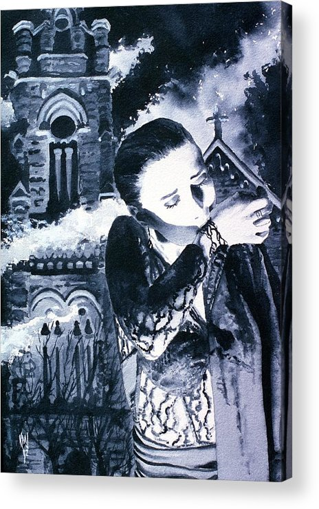 Vampires Acrylic Print featuring the painting To Survive by Ken Meyer jr