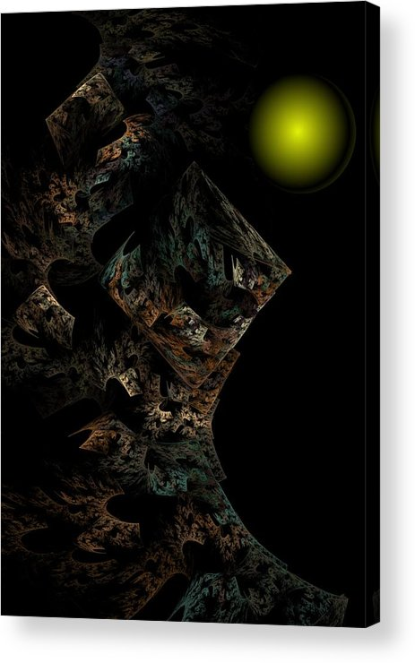 Fantasy Acrylic Print featuring the digital art Untitled 12-18-09 by David Lane