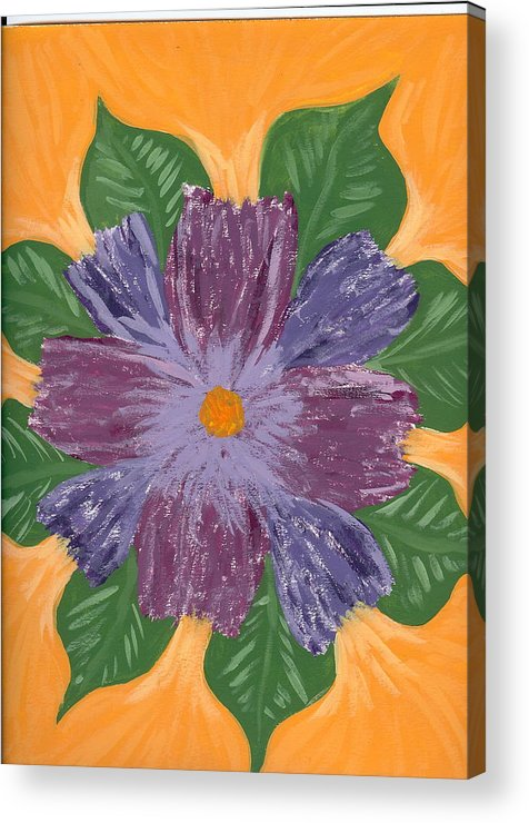 Flower Acrylic Print featuring the painting Viola by Laura Lillo