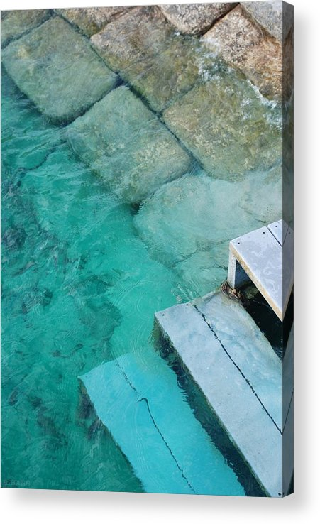 Water Blocks Bricks Acrylic Print featuring the photograph Water Steps by Rob Hans