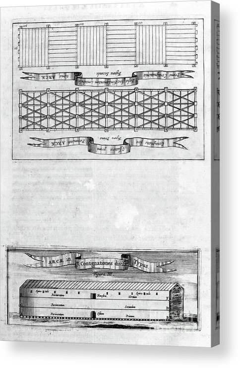 Engraving Acrylic Print featuring the drawing Description Of The Ark, 1675. Artist by Print Collector