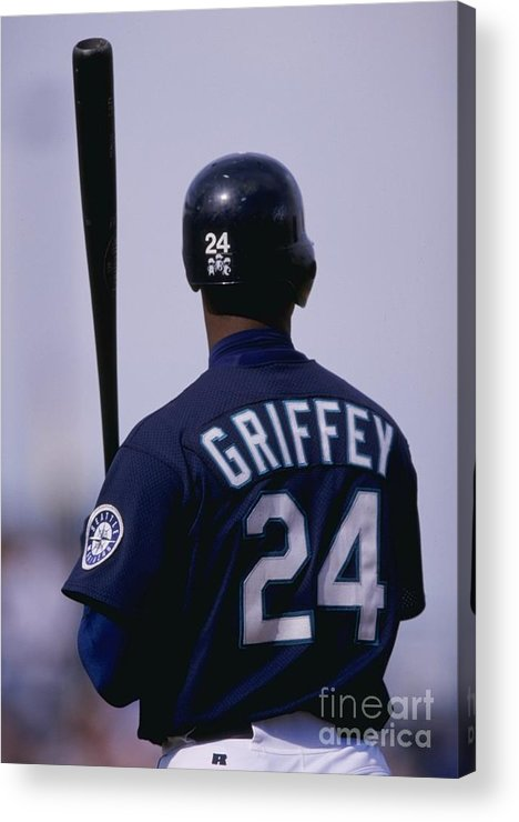 Peoria Sports Complex Acrylic Print featuring the photograph Ken Griffey Jr by Brian Bahr