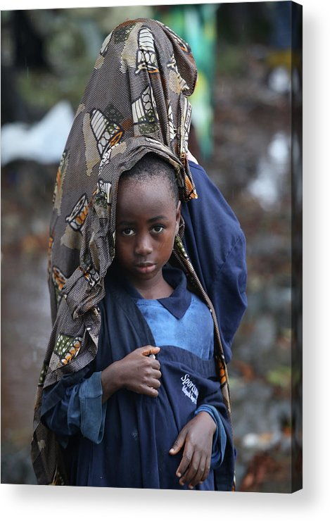 Sister Acrylic Print featuring the photograph Liberia Battles Spreading Ebola Epidemic by John Moore