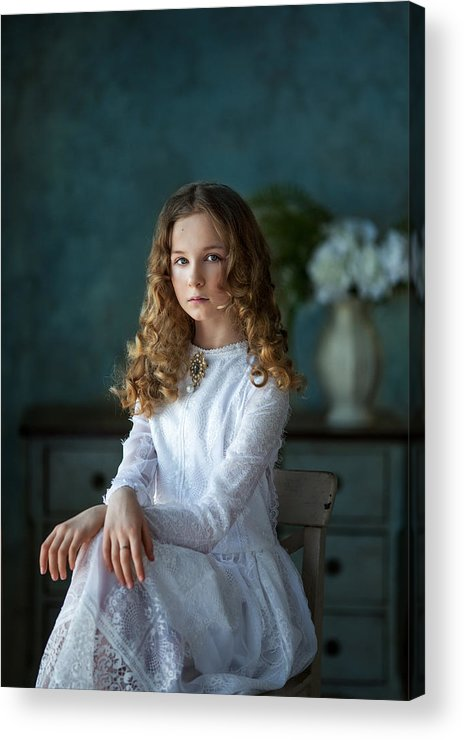Portrait Acrylic Print featuring the photograph *** by Alina Lankina