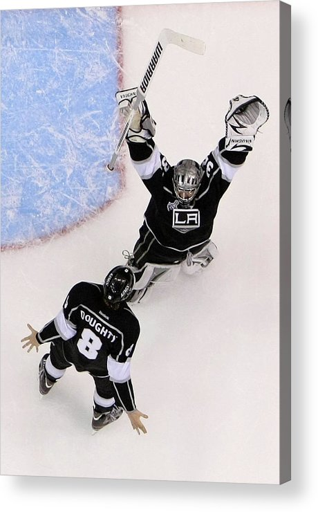 Playoffs Acrylic Print featuring the photograph 2012 Nhl Stanley Cup Final – Game Six by Jeff Gross
