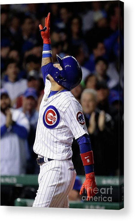 Three Quarter Length Acrylic Print featuring the photograph League Championship Series - Los by Jamie Squire