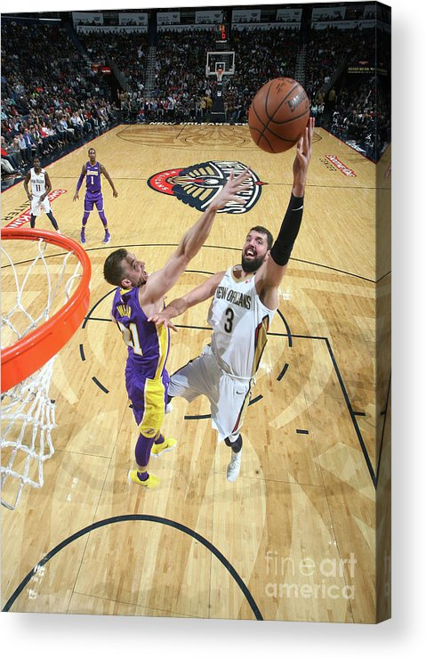 Smoothie King Center Acrylic Print featuring the photograph Los Angeles Lakers V New Orleans by Layne Murdoch