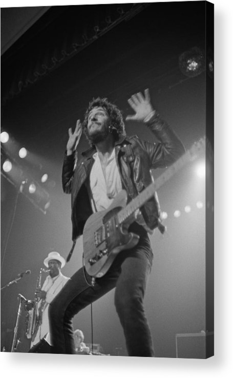 Bruce Springsteen Acrylic Print featuring the photograph Springsteen Live In New Jersey by Fin Costello