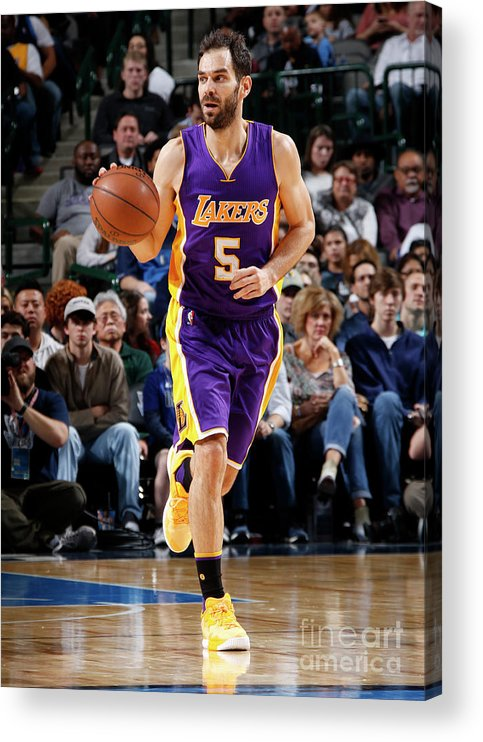Nba Pro Basketball Acrylic Print featuring the photograph Los Angeles Lakers V Dallas Mavericks by Glenn James