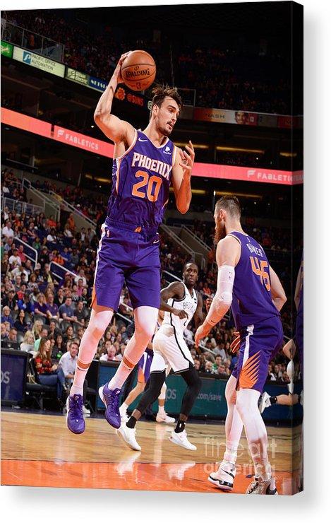 Nba Pro Basketball Acrylic Print featuring the photograph Brooklyn Nets V Phoenix Suns by Barry Gossage