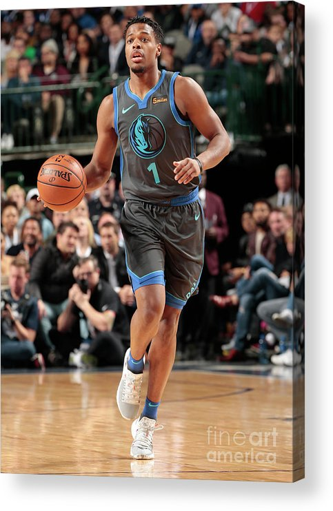 Nba Pro Basketball Acrylic Print featuring the photograph Oklahoma City Thunder V Dallas Mavericks by Glenn James