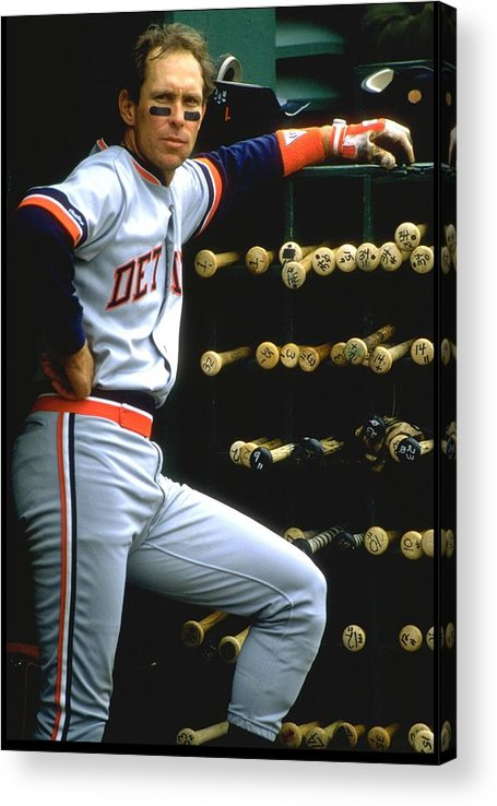 1980-1989 Acrylic Print featuring the photograph Alan Trammell Tigers by Otto Greule Jr