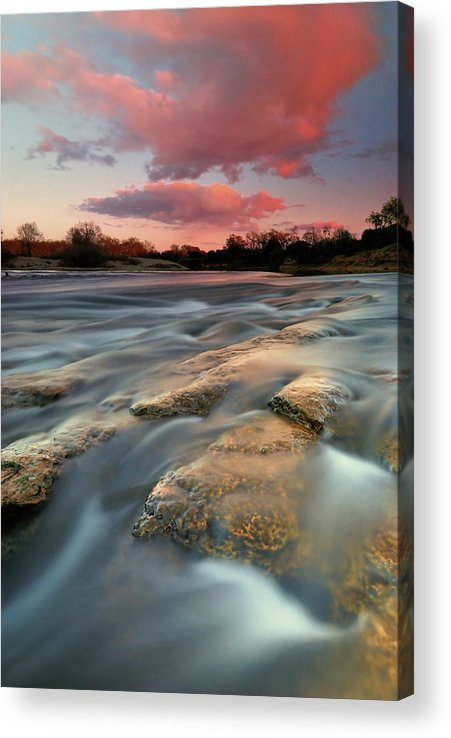 Scenics Acrylic Print featuring the photograph American River Parkway At Sunset by David Kiene