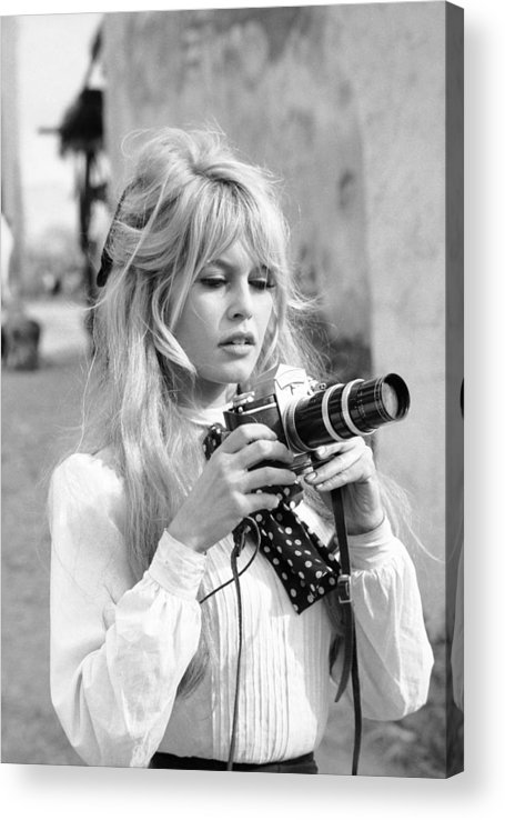 Timeincown Acrylic Print featuring the photograph Bardot During Viva Maria Shoot by Ralph Crane