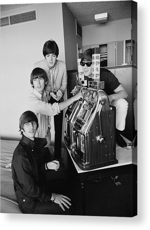 Singer Acrylic Print featuring the photograph Beatles In Vegas by Harry Benson