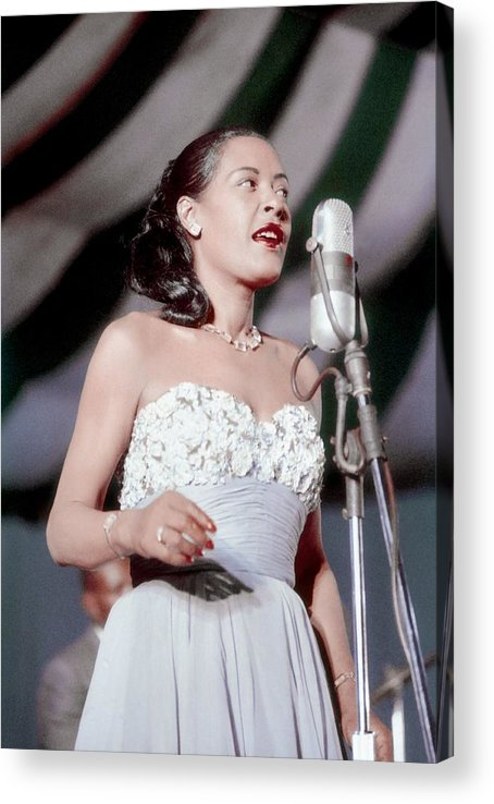 Billie Holiday Acrylic Print featuring the photograph Billie Holiday At Newport Jazz by Bill Spilka
